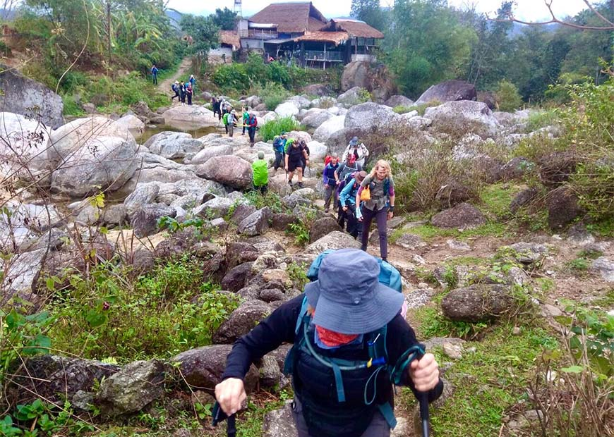 Group of tourists on Trekking Trails - Vietnam Final Frontier