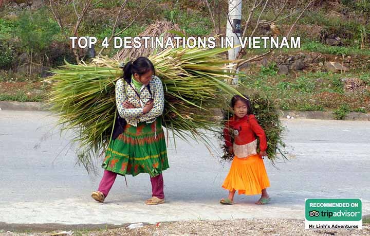 Top 4 destinations in Vietnam