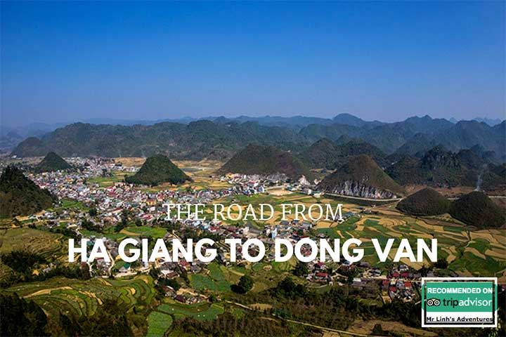 The road from Ha Giang to Dong Van