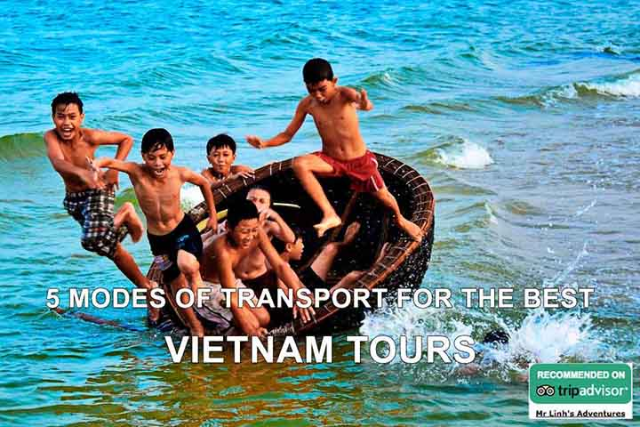 5 modes of transport for the best Vietnam tours